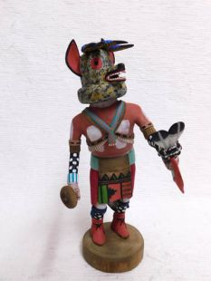 Native American Hopi Carved Wolf Hunter Katsina Doll
