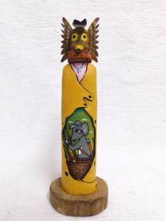 Native American Hopi Carved Owl Warrior Katsina Sculpture