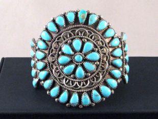 1970s Native American Navajo Made Blossom Cuff