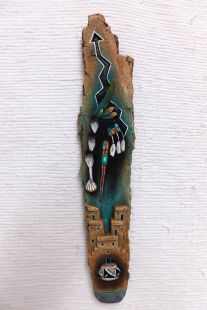 Native American Laguna Carved Longhair Wall Hanging Sculpture
