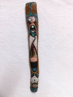 Native American Laguna Carved Pot Carrier Maiden Wall Hanging Sculpture