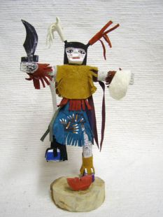 Native American Navajo Clown Kachina Doll