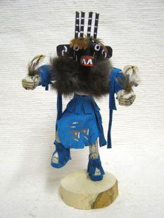 Native American Navajo Made Four-Horn Warrior Kachina Dancer Doll