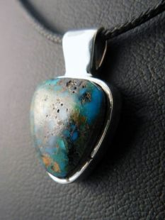 Native American Hopi Made Pendant with Chrysocolla