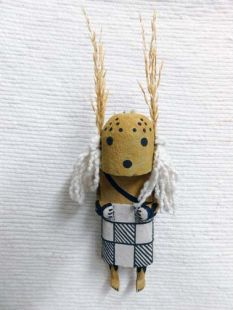 Old Style Hopi Carved Cricket Traditional Racer Katsina Doll