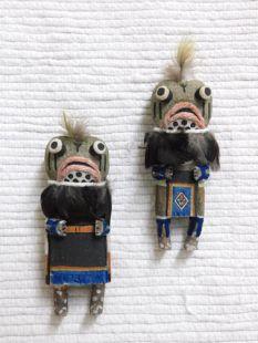 Old Style Hopi Carved Frog Traditional Rain Katsina Dolls