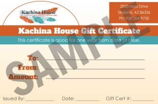 Kachina House Gift Certificate/Card