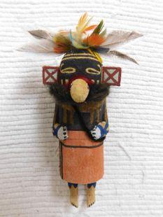 Old Style Hopi Carved Red Skirt Traditional Runner Katsina Doll