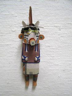 Old Style Hopi Carved Velvet Shirt Traditional Katsina Doll