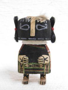 Old Style Hopi Carved Kokopelli Mana Traditional Racer Katsina Doll Ornament