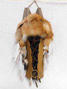 Native American Navajo Made Red Fox Cradleboard--Large