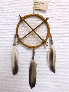 "4"" Dreamcatcher with Crossed Arrows"