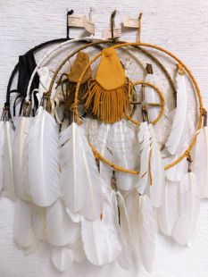 "12""--Native American Navajo Made Dreamcatcher Medicine Wheel Combination"