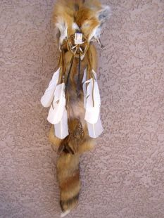 Native American Navajo Made Red Fox Quiver with Arrows