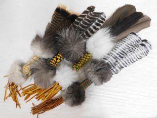 Native American Made Beaded Prayer Fan