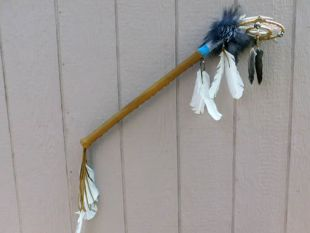 Native American Made Ceremonial Dreamer Dance Stick