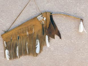 Native American Navajo Made Warrior Bow Case with Bow and Arrows