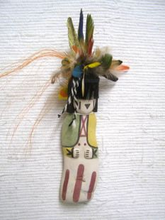 Old Style Hopi Carved Buffalo Maiden Traditional Dancer Katsina Doll