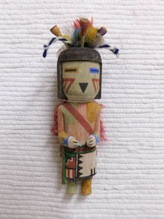 Old Style Hopi Carved Flute Traditional Water Katsina Doll