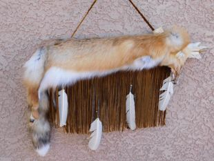 Native American Navajo Made Flat Full Red Fox Quiver with Arrows