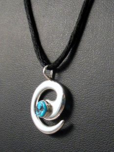 Native American Navajo Made Pendant with Migration