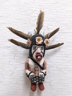 Old Style Hopi Carved Cross-Legged Handicapped Katsina Doll