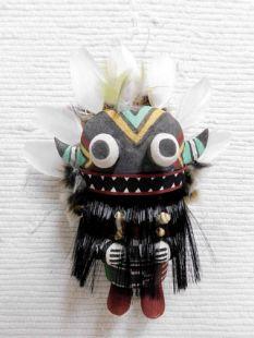 Old Style Hopi Carved Broadface Traditional Guard Katsina Doll