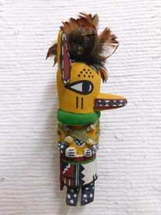Old Style Hopi Carved Fox Traditional Katsina Doll