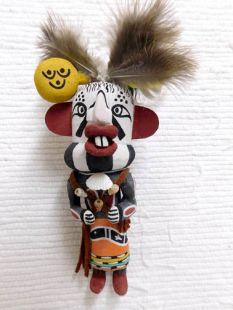 Old Style Hopi Carved Imitator Traditional Clown Katsina Doll