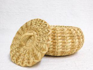 Vintage Native American Tohono O'Oodham Lidded Basket