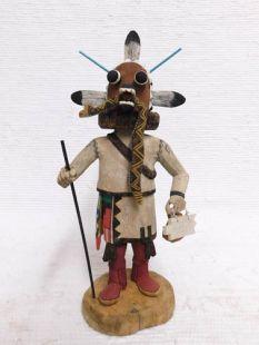 Native American Hopi Carved Chief Katsina Doll