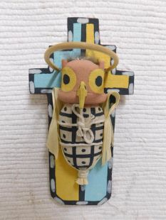 Old Style Hopi Carved Owl Traditional Warrior Katsina Doll