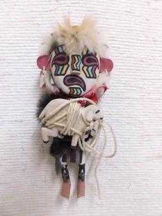 Old Style Hopi Carved Heheya Traditional Messenger Katsina Doll-White Face