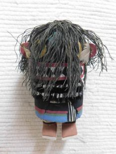 Old Style Hopi Carved Ogre Woman Traditional Disciplinarian Katsina Doll