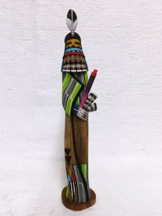 Native American Hopi Carved Corn Maiden Katsina Sculpture