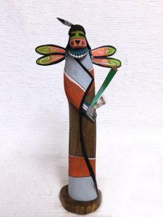 Native American Hopi Carved Dragonfly Katsina Sculpture