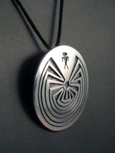 Native American Hopi Made Man in the Maze Pendant