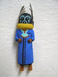 Old Style Hopi Carved Qoqooqlo Traditional Storyteller Katsina Doll
