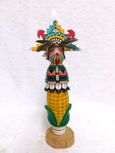 Native American Hopi Carved Butterfly Maiden Katsina Sculpture