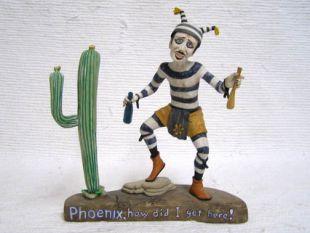 Native American Hopi Carved Clown Katsina Doll in Phoenix