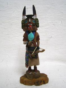 Native American Hopi Carved Badger Healer Katsina Doll