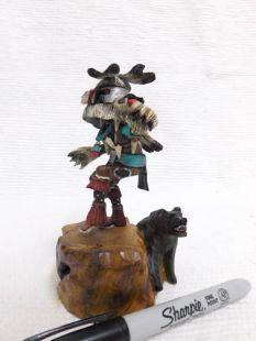 Native American Hopi Carved Bear Powerful Healer Katsina Doll--mini