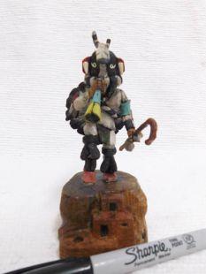 Native American Hopi Carved Kokopelli Fertility Katsina Doll--mini