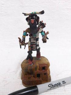 Native American Hopi Carved Left Handed Hunter Katsina Doll--mini