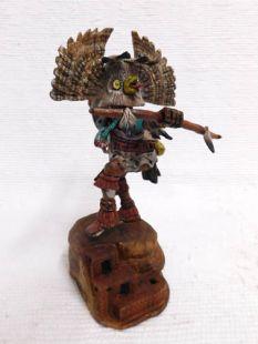 Native American Hopi Carved Owl Warrior Katsina Doll