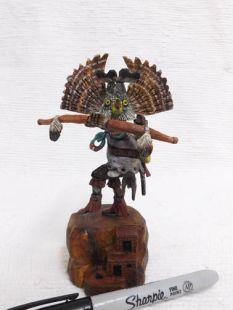 Native American Hopi Carved Owl Warrior Katsina Doll--mini