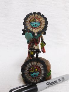 Native American Hopi Carved Sunface Katsina Doll--mini