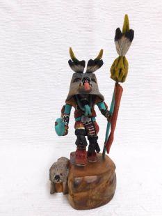 Native American Hopi Carved Wolf Hunter Katsina Doll