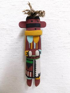 Old Style Hopi Carved Dragonfly Traditional Racer Katsina Doll
