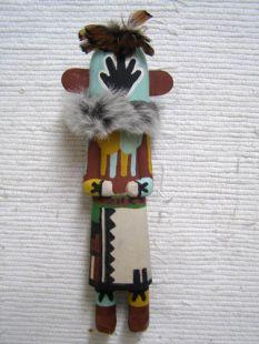 Old Style Hopi Carved Handprint Traditional Racer Katsina Doll